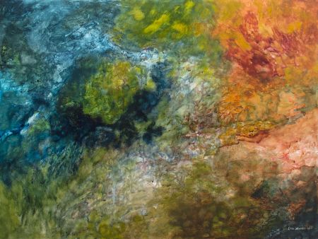 Thumbnail image of Hue's Calling?  - Abstract Watercolor Painting by Ellen Masko
